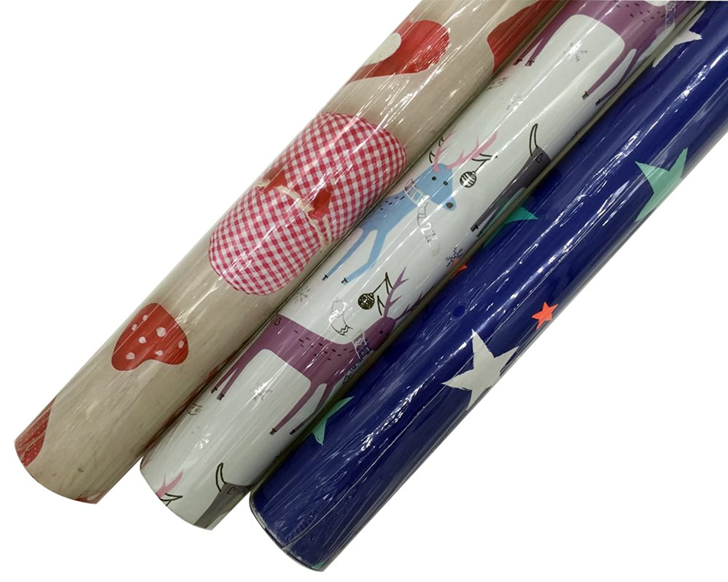 Gift Wrapping Paper Rolls?For Birthday, Holiday, Christmas, Wedding, Anniversary, Baby Shower - 3 Rolls - Multiple Patterns - 30