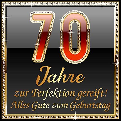 Rahmenlos - Pegatinas autoadhesivas (3 unidades), diseño con texto en alemán '70 Jahre zur Perfektion gereift!'