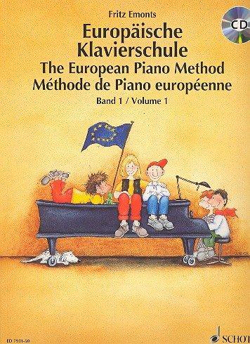 Europäische Klavierschule Band 1 (+CD) mit Bleistift - Ausgezeichnet mit dem Deutschen Musikeditionspreis 1992! - Noten/sheet music