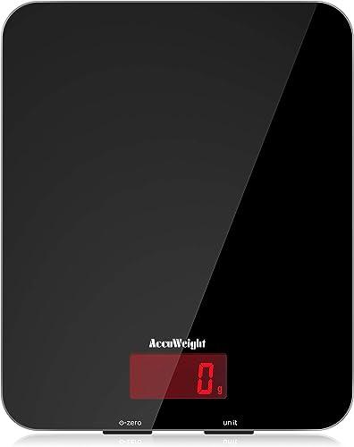 ACCUWEIGHT Balance de Cuisine Électronique Balance Multifonctionnelle Numérique avec Écran LCD Rétro Éclairé Balances...