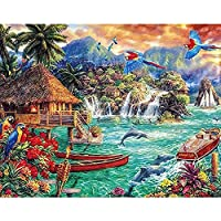 5D DIYダイヤモンド絵画海辺の風景タウンスクエア/ラウンドダイヤモンド刺繡セットモザイクアート画像壁画A2 60x80cm