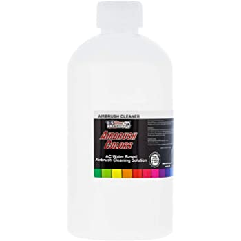 U.S. Art Supply - Airbrush Cleaner - (16-Ounce Pint) Fast Acting for Airbrush Paint, Make Up, Tanning, Cake Airbrush Colors