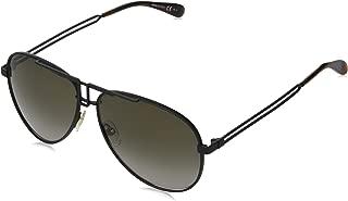 Givenchy GV 7110/S 003 HA Matte Black Metal Aviator Sunglasses Brown Gradient Lens