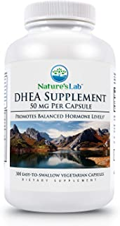 DHEA - 50mg - 300 Capsules (10 Month Supply) Extra Strength Formula Promotes Healthy Energy, Optimal Hormone Balance, Lean Muscle Mass and Increased Mental Clarity.