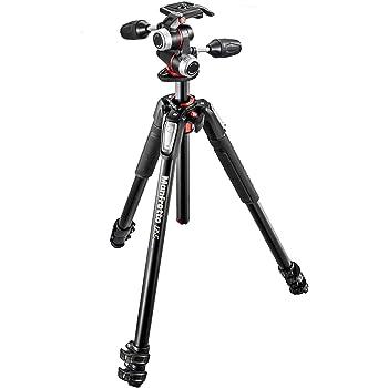 Manfrotto 055 professionelles Fotostativ mit 3 Auszügen (3-Wege Neiger und horizontaler Mittelsäule, Spiegellos bis 8 kg, MK055XPRO3-3W)