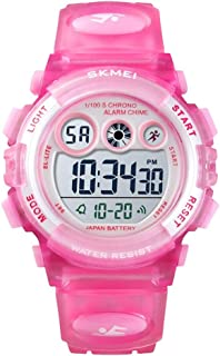 Kids Watch,Waterproof Sports Electronic Casual with Silicone Band Luminous Alarm Clock Boys Girls Digital Watches