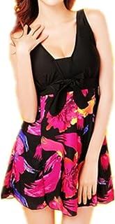 aed08dc91be79 Beyond Women s One-Piece Floral Vintage Plus Size Swimdress Swimwear