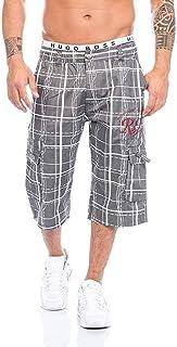 Xmiral Pantaloni Uomo Estate Moda Confortevole Plaid Casuale Pantaloni Corti con Tasca