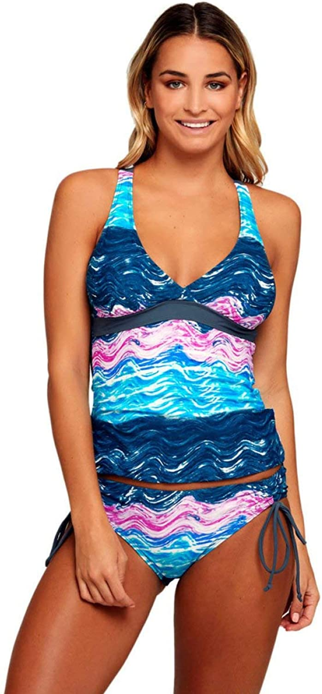 Juexianggou Water Ripples Printed Swimsuit Swimsuit Bikini