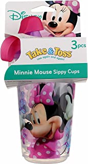 The First Years Take & Toss Spill-proof Cups Mickey Mouse Clubhouse 3 PK (Pack of 4)