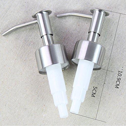 elegantstunning Roestvrij Staal Vloeibare Zeep Lotion Emulsie Fles Dispenser Pomp Persen Hoofd Nozzle Vervangende Potje Buis