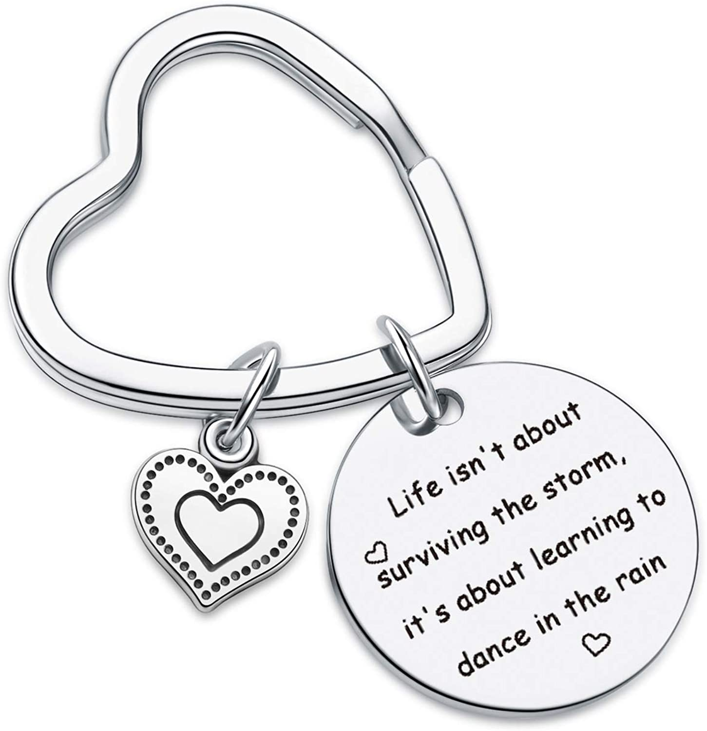 7RVZM Inspirational Jewelry for Daughter Gift Best Friend Jewelry motivational Keychain