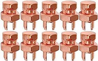 TEHAUX 10pcs Split Bolt Connectors High Strength Grounding Split Bolt Connector T//J 16