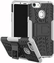Shockproof Compatible with OPPO F5 Case, Personality Creativity Hyun Pattern Dual Layer Hybrid Armor Kickstand 2 In 1 Shockproof Case Cover Compatible with OPPO F5 / OPPO F5 Youth (Color : White)
