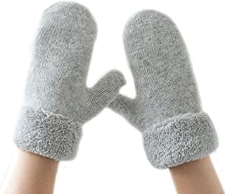 Pure Color Mitten Fingerless Gloves Driving Gloves-Synthetic Rabbit Fur Gloves