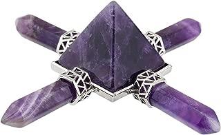 rockcloud Pyramid Energy Generator,Reiki Chakra Healing Crystal Stone,Amethyst