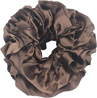 Women Muslim Flexible Rubber Band Simple Hijab Hat ❀ Ladies Volumizing Scrunchie Large Hair Bow Headwear Cap