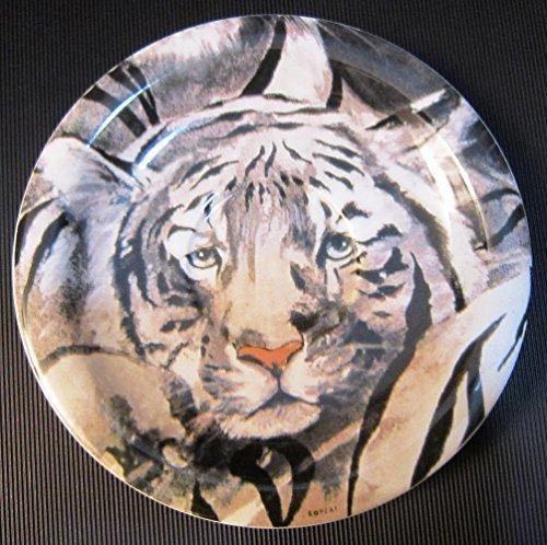 LA - RAJANI BOPLA Porzellan weisser Tiger Unterteller Kaffee / Mini Teller 16cm Coffee saucer / Mini plate 6 1/4 in. Soucoupe à café / Assiette Mini 16 cm Sottotazza da caffè / Piatto Mini 16 cm