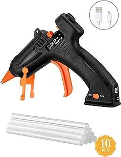 TOPELEK Cordless Hot Glue Gun Kit, 15W Mini Glue Gun with 10Pcs Glue Sticks, USB Charging Hot Melt Glue Gun for DIY Crafts, Quick Repairs, Home, School, Office Arts
