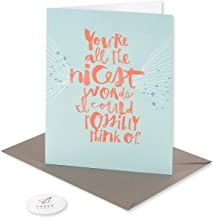 Paper Rebel Blank Thank You Card (All The Nicest Words)