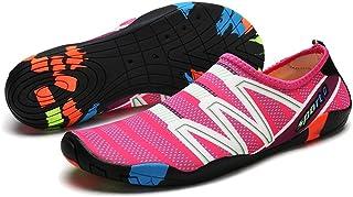 Exing 2018 Nuevos Zapatos de Playa Pegatinas Piel Hombres y Mujeres Zapatillas de Buceo Transpirables Antideslizantes Cinta de Correr Zapatos de natación Aguas Arriba Zapatos de vadeo