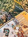 Peel Forest Caravan Rug Navajo Tribal Throw Blanket Cotton Woven Aztec Couch Throws Sofa Chair Picnic Beach mat (35.4'X70.8')