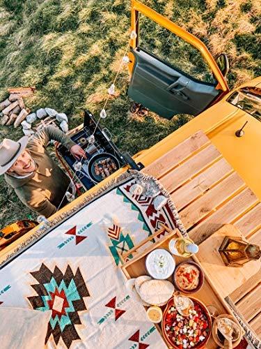 Peel Forest Wohnwagen-Teppich Navajo Tribal Überwurf Decke Baumwolle gewebt Aztekenmuster Couch Überwurf Sofa Stuhl Picknick Strand Matte (90 x 200 cm)