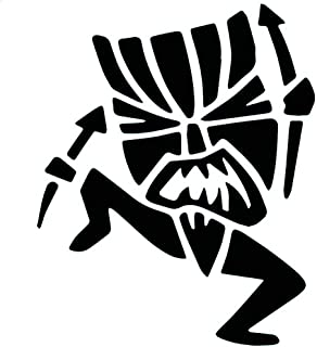 Tiki Tribe Witch Doctor Vinyl Decal - size: 5