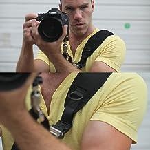 etc. TuoOh SLR//DSLR Fit Canon Nikon Sony Olympus Pentax Nikon Correa de Cuello Extra Larga con Liberaci/ón R/ápida y Seguridad Tether Correas de Hombro El/ásticas para C/ámaras Canon