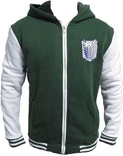 Attack on Titan Cosplay Costume Zip Button Adult Hoodie Sweatshirt Jacket M~ XXL