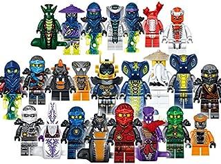 24 PCS Ninjago Building Blocks Action Figures - Ninja Mini Figures - Superhero Mini Building Block Action Figures - Building Toys - Ninja - Super Hero Toys - Building Blocks Brick DIY Toys Children