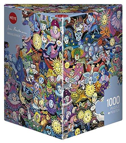 HEYE 29789 - Masquerade Triangular, Sven Hartmann, inklusiv Poster, 1000 Teile Puzzle