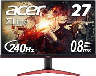 Acer ゲーミングモニター SigmaLine 27インチ KG271Fbmiipx 0.8ms 240Hz TN フルHD FreeSync フレームレス HDMIx2 スピーカー内蔵 ブルーライト軽減