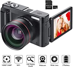 Digital Camera YouTube Vlogging Camera HD 1080P 24MP...