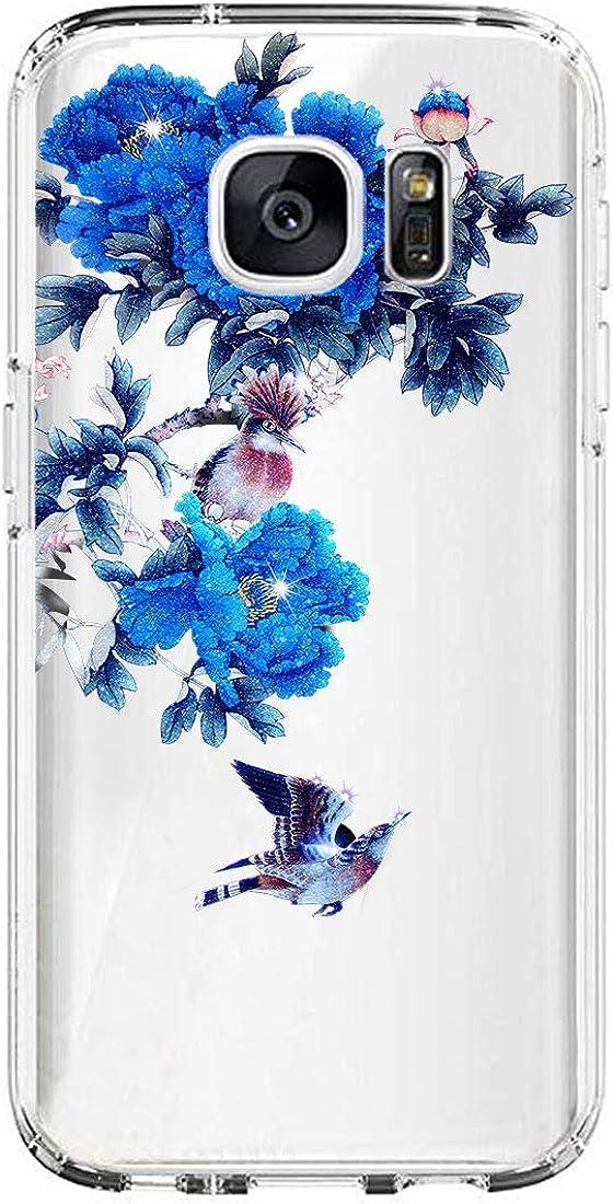 Kompatibel Mit Samsung Galaxy S7 Edge H/ülle weich Silicone Transparent Handyh/ülle Ultraslim Blume Design Schutzh/ülle Crystal Clear Case Anti-Dropping Anti-Fingerabdruck Bumper Cover