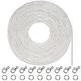 33 Pieds Collier de Chaîne de Câble Plaqué Argenté avec