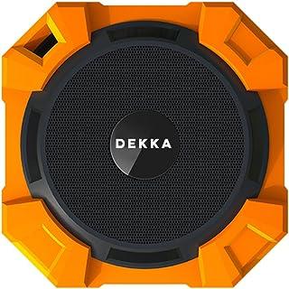 Goldline Dekka - Altavoz estéreo portátil con Bluetooth a prueba de agua, a prueba de polvo, a prueba de golpes, sonido Hifi Sound Bluetooth con llamadas manos libres (Hexagon, rojo)