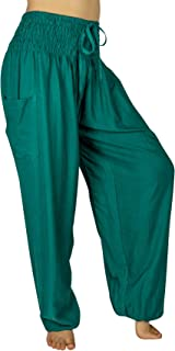 PI Yoga Women's XL Yoga Boho Pants - Elastic at Waist & Ankle (Scrunched Bottom for Sizes 12-16)