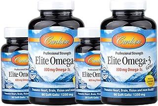 Carlson Omega-3 中老年挪威深海鱼油软胶囊 90粒+30粒 2组装(4瓶)