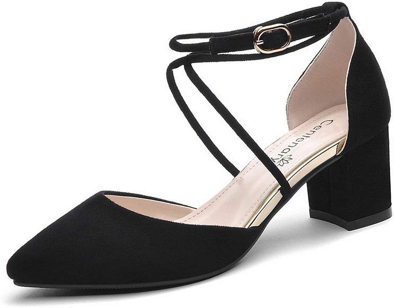 Oudan Dame Spitz High Heels Schuhe einfachen Schuhe Krawatten Schuhe Große Größe (Farbe   Schwarz, Größe   37)    Große Auswahl    Erste in seiner Klasse    Qualität Produkte