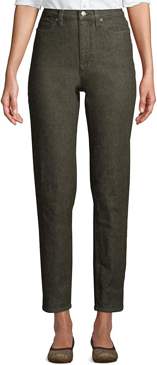 Lands' End Women's High Rise Straight Leg Ankle Jeans
