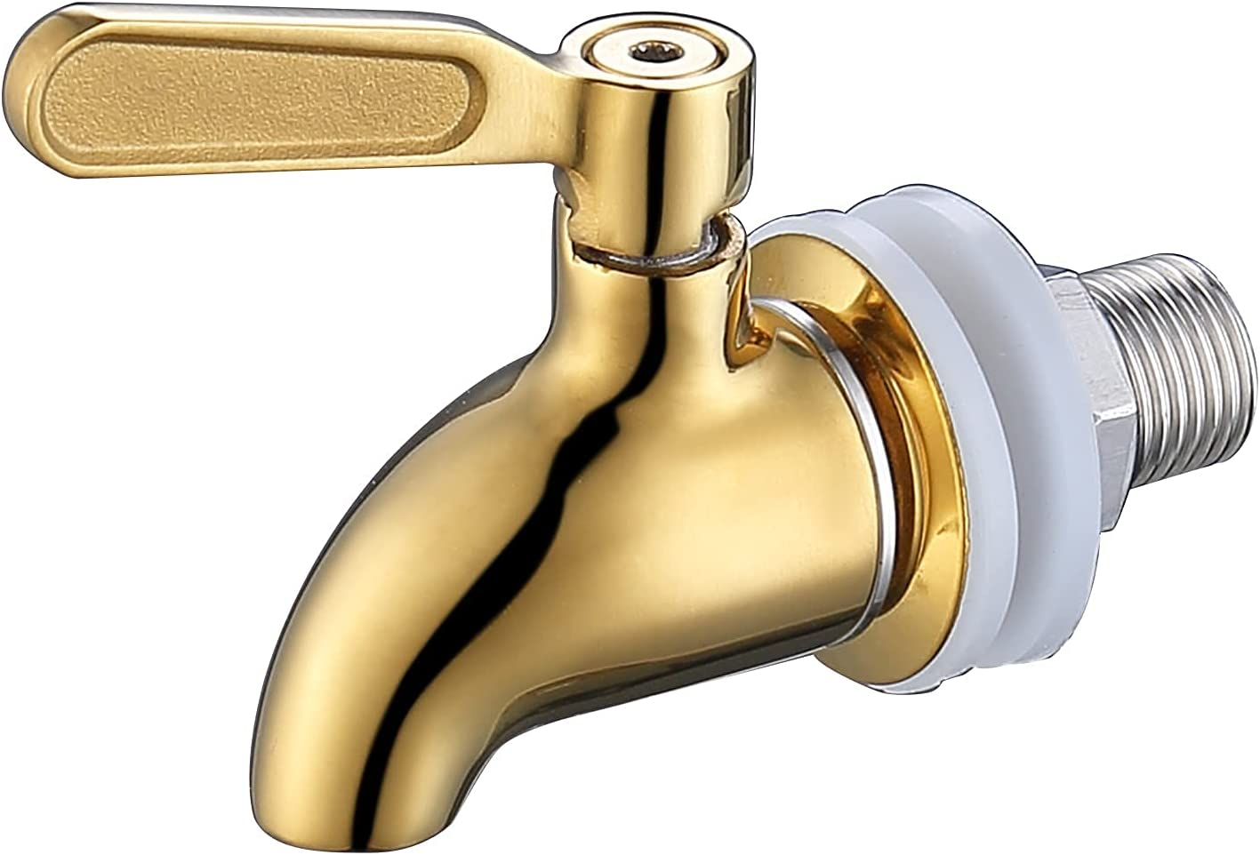Beverage Dispenser Replacement Spigot,Stainless Steel Polished Finished, Water Dispenser Replacement Faucet Gold