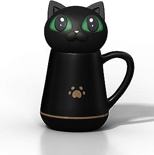 Tasse à Café avec Couvercle en Silicone Souple et Mignon en Forme du Chat Pétrissable et Compressible Cadeaux Créatifs Con...