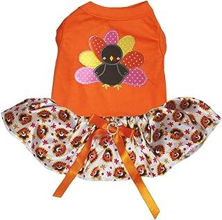 Petitebella Rainbow Turkey Shirt Turkey Dots Tutu Puppy Dog Dress
