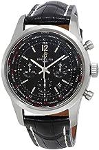 Breitling Transocean Chronograph Unitime Pilot Black Dial Mens Watch AB0510U6-BC26BKCT