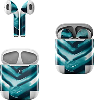Skin Decals for Apple AirPods - Watercolor Chevron - Sticker Wrap Fits 1st and 2nd Generation