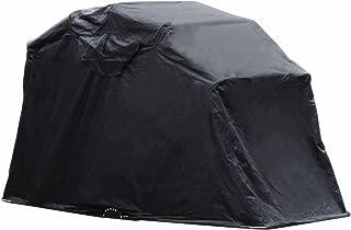 Popsport Motorcycle Shelter Storage Black Oxford 600D Waterproof Motorbike Cover Large Motorbike Storage Tent for Protecting Motorcycle (Motorbike Cover)