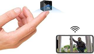 小型カメラ WiFi, 4K HD高画質超小型スパイ隠しカメラスマホ対応Wi-fi長時間録画/録音ワイヤレス監視カメラ電池式屋外/屋内用ミニ防犯カメラ室内 盗撮カメラ赤外線暗視動体検知