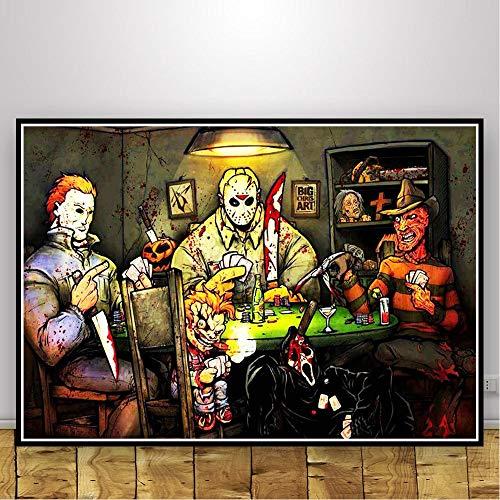 oioiu Película Personaje Abstracto póster impresión clásico película Arte Graffiti Lienzo Pintura Mural Sala decoración Club Fiesta Juego Sala