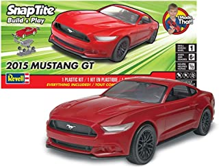 Revell SNAPTITE Build + Play 2015 Mustang GT Model Kit, Red
